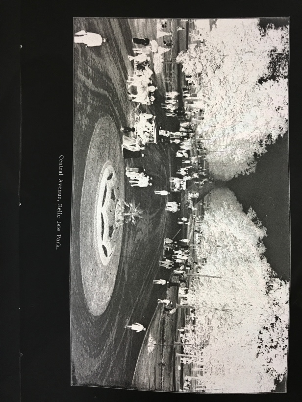 Very old professional negative of Belle Isle in horse & buggy days
