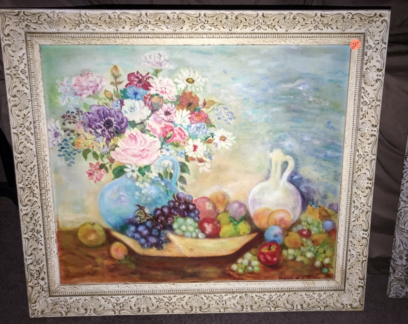 Lovely still life painting in ornate frame